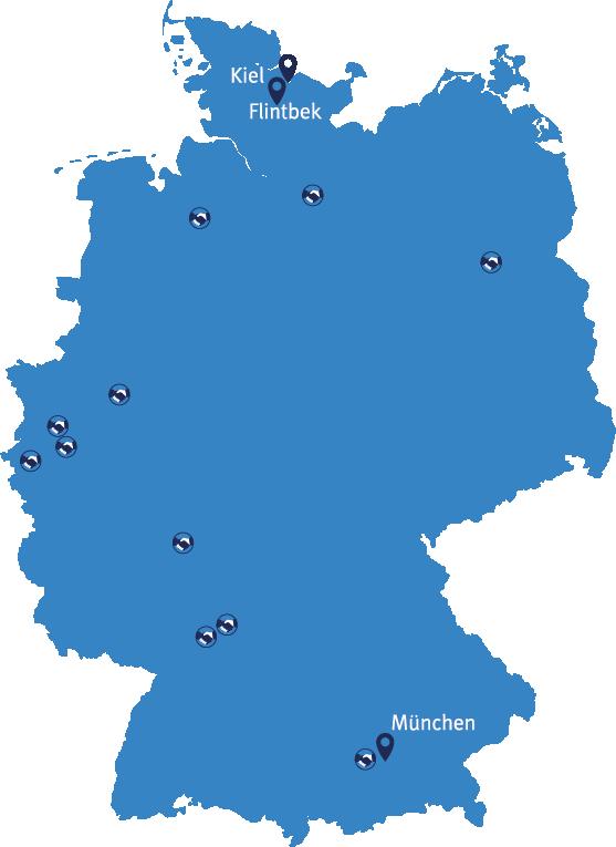 Gruler & Cleve Standorte in Kiel, Flintbeck und München